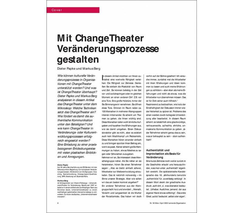 Mit ChangeTheater Veränderungsprozesse gestalten