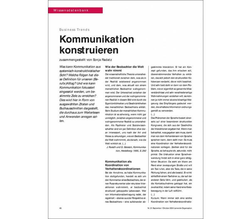 Kommunikation konstruieren