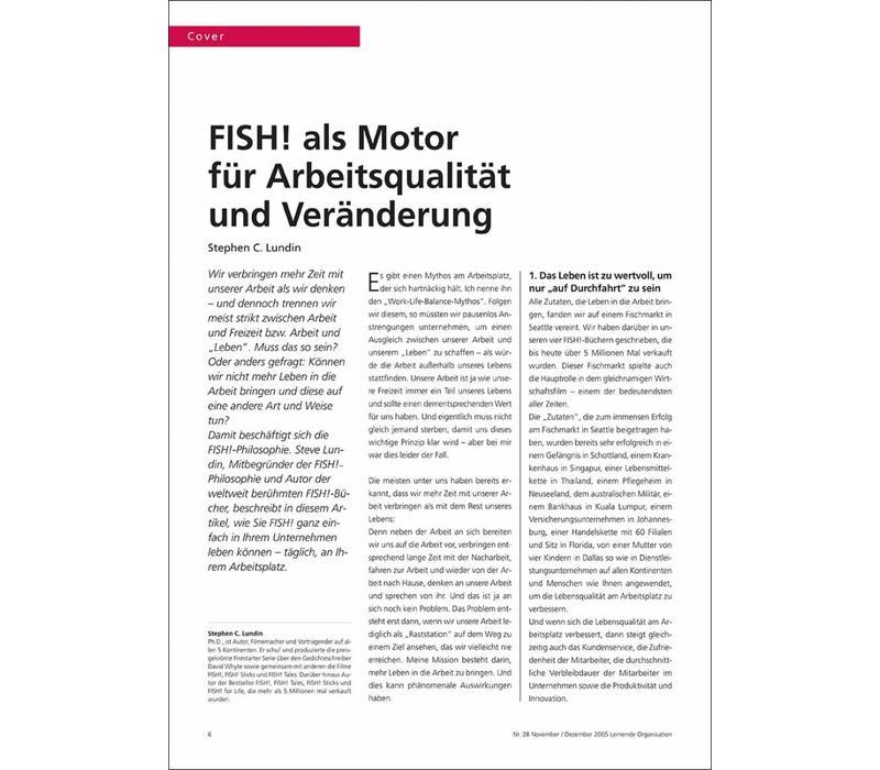 FISH! als Motor für Arbeitsqualität und Veränderung
