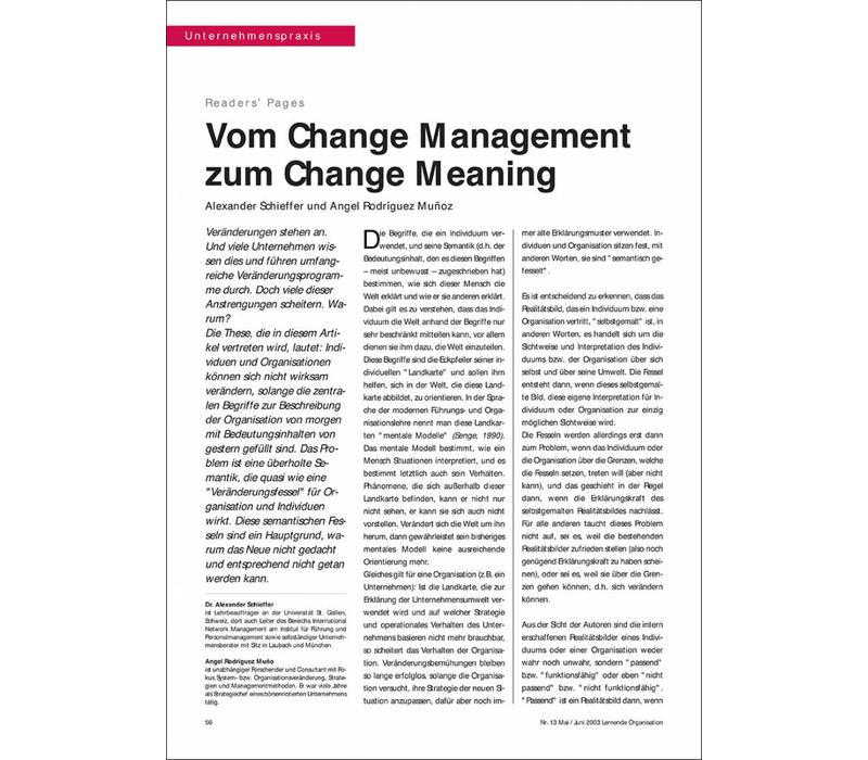 Vom Change Management zum Change Meaning