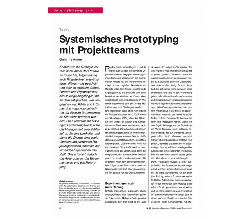 Systemisches Prototyping mit Projektteams