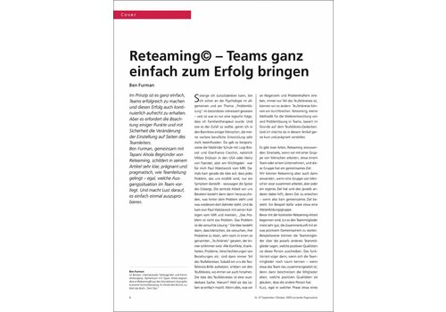 Reteaming© – Teams ganz einfach zum Erfolg bringen