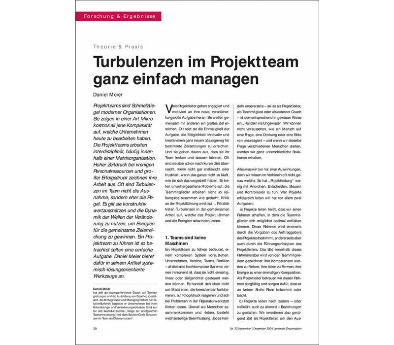 Turbulenzen im Projektteam ganz einfach managen