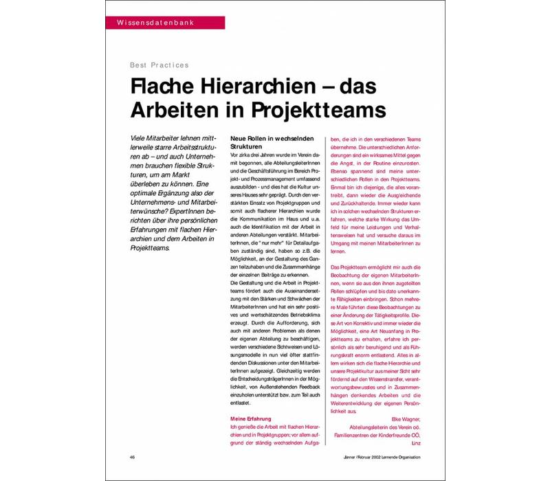 Flache Hierarchien – das Arbeiten in Projektteams