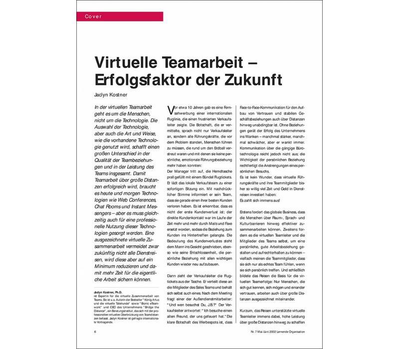 Virtuelle Teamarbeit – Erfolgsfaktor der Zukunft