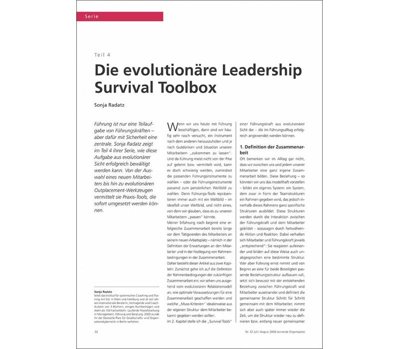 Die evolutionäre Leadership Survival Toolbox