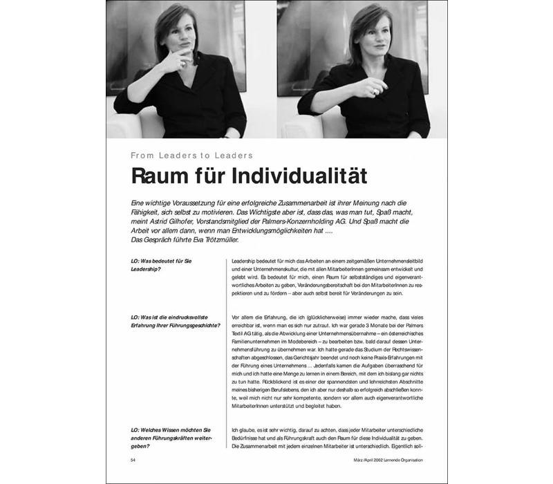 Raum für Individualität