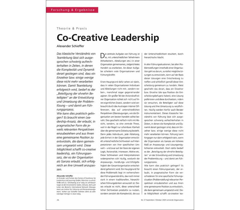 Co-Creative Leadership