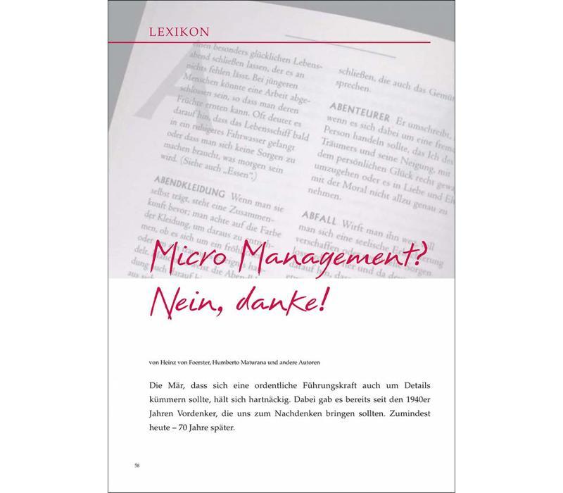 Micro Management? Nein, danke!