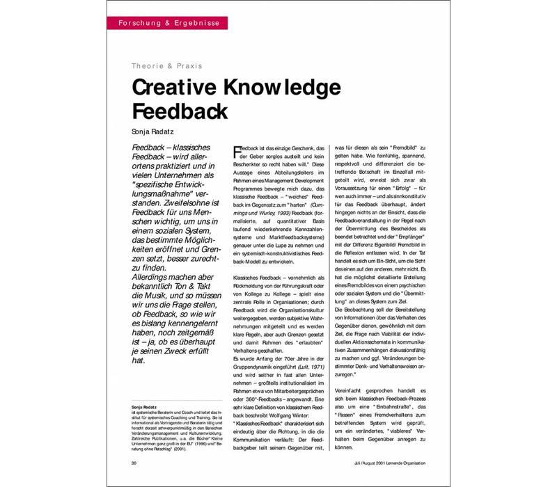 Creative Knowledge Feedback