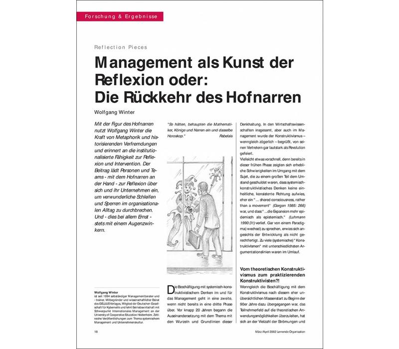 Management als Kunst der Reflexion oder: Die Rückkehr des Hofnarren