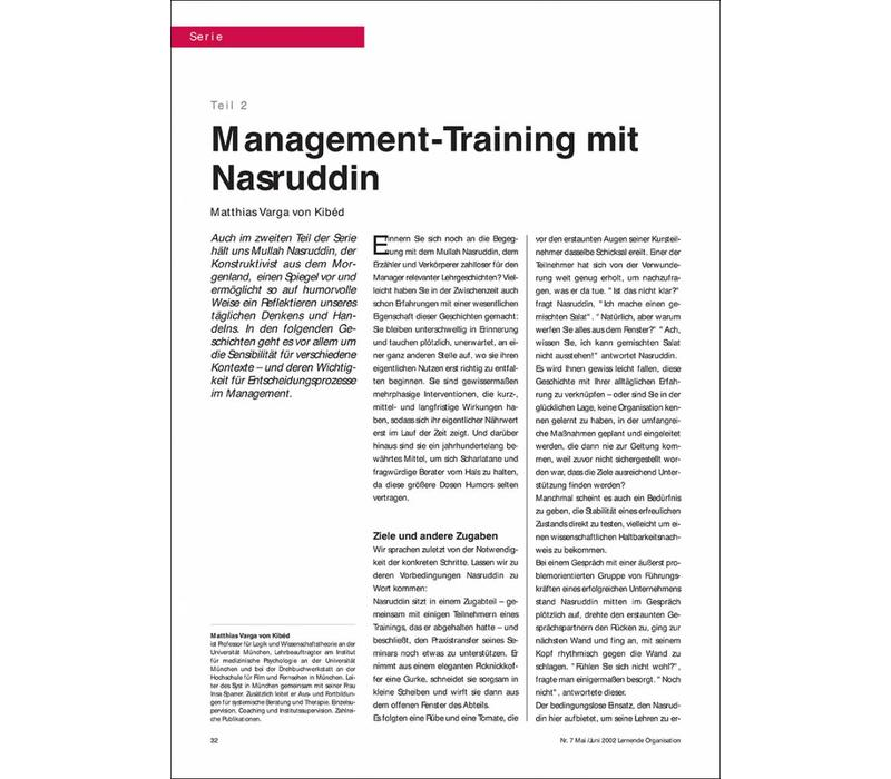 Management-Training mit Nasruddin