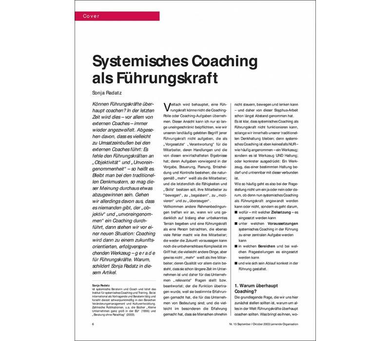 Systemisches Coaching als Führungskraft