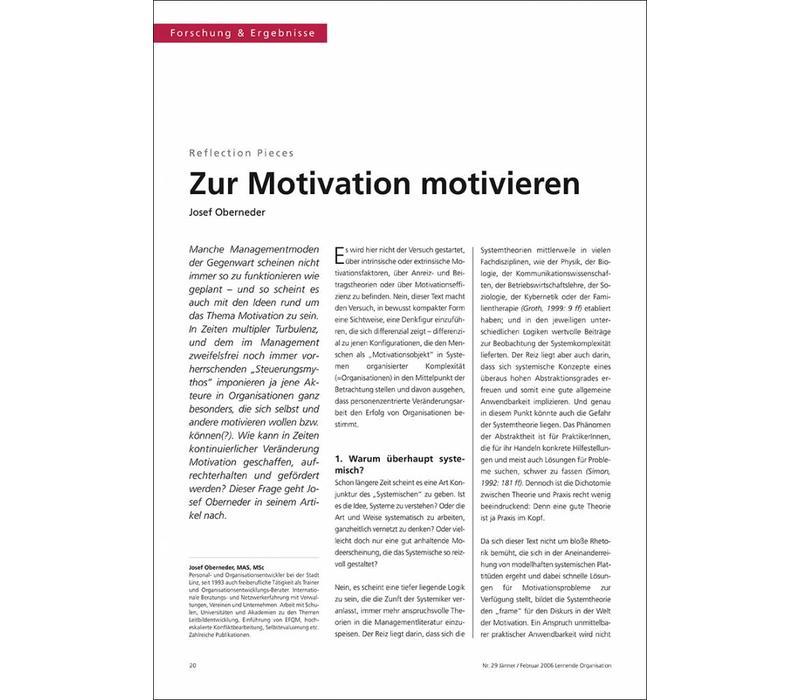 Zur Motivation motivieren