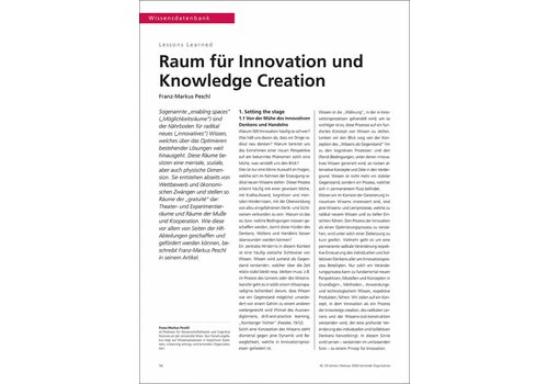 Raum für Innovation und Knowledge Creation