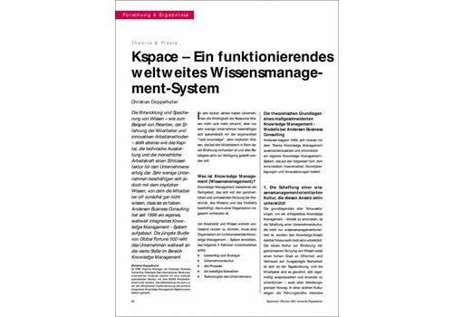 Kspace – Ein funktionierendes weltweites Wissensmanagement- System