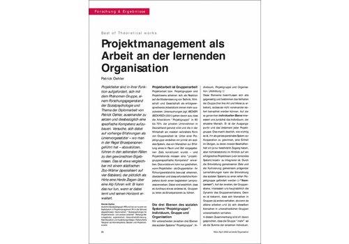 Projektmanagement als Arbeit an der lernenden Organisation