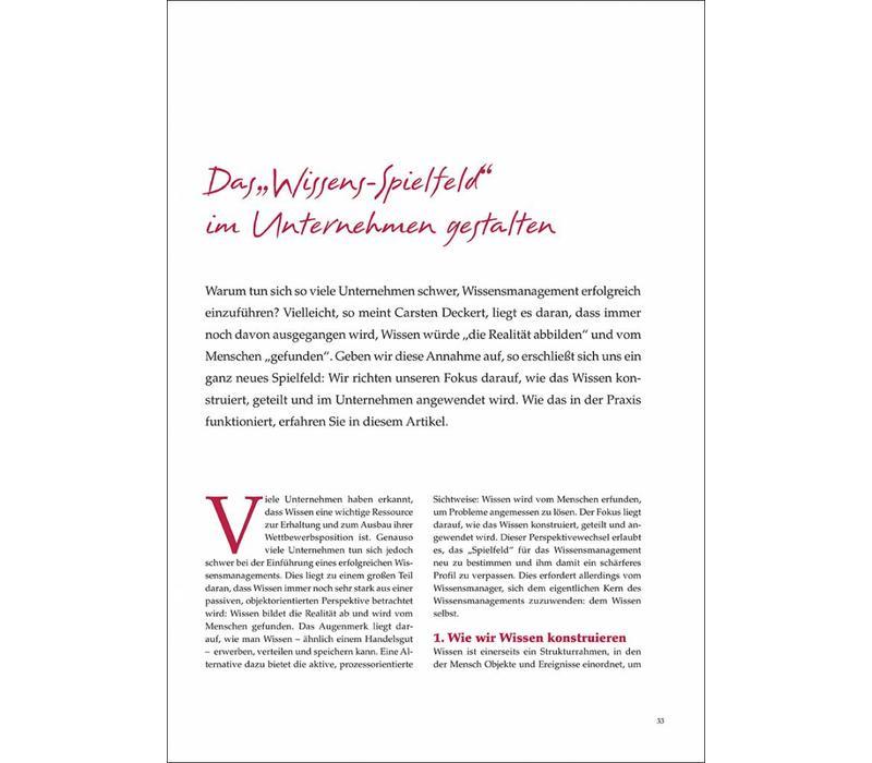 """Das """"Wissens-Spielfeld"""" im Unternehmen gestalten"""