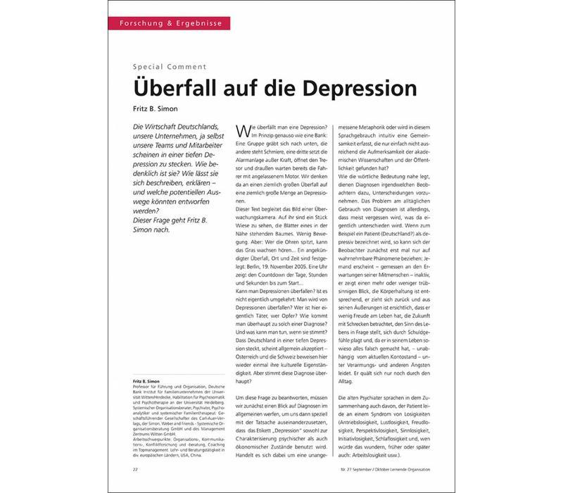 Überfall auf die Depression
