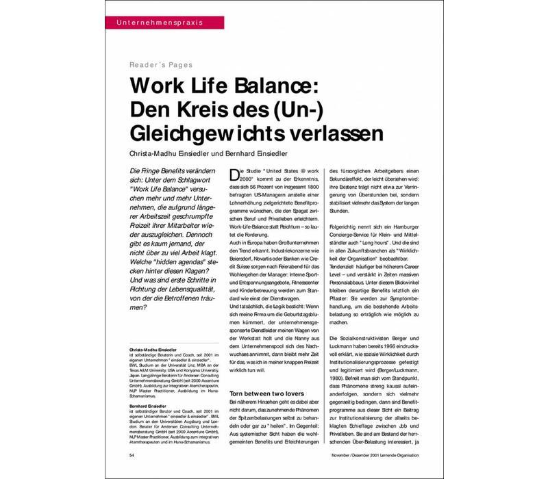 Work Life Balance: Den Kreis des (Un-) Gleichgewichts verlassen