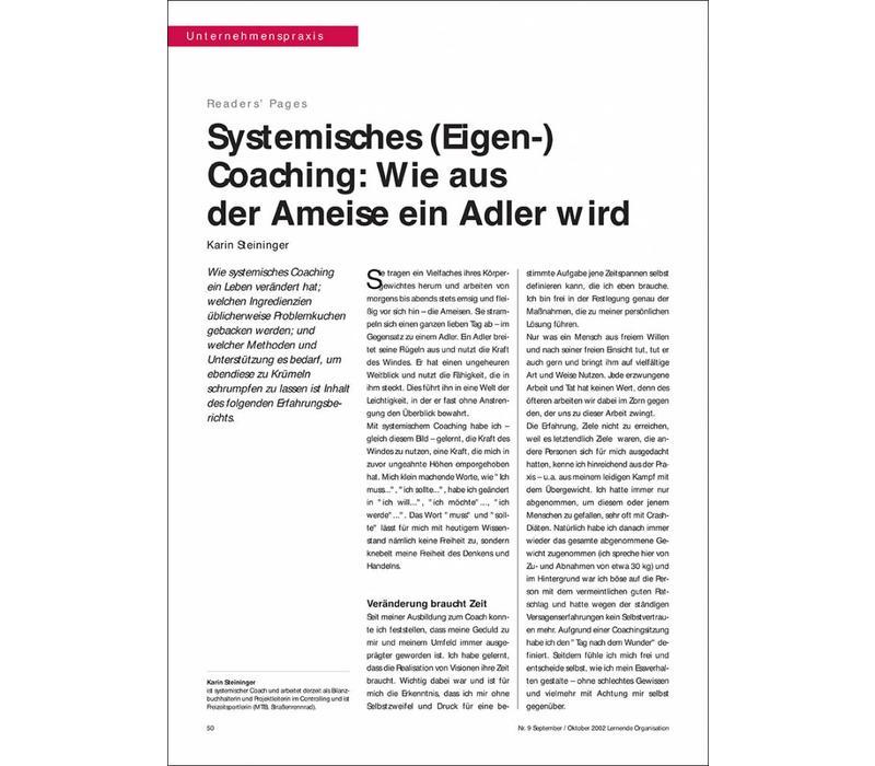 Systemisches (Eigen-) Coaching: Wie aus der Ameise ein Adler wird