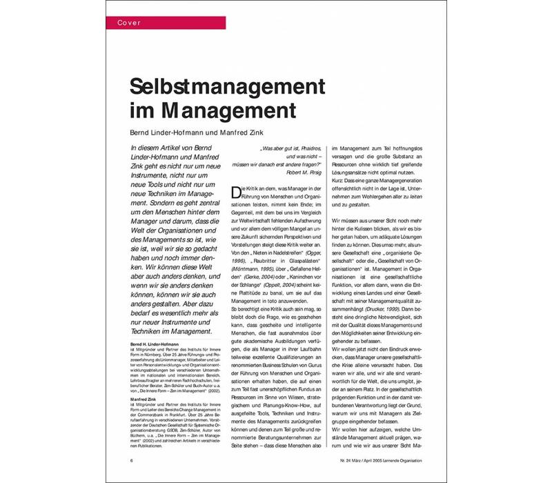 Selbstmanagement im Management