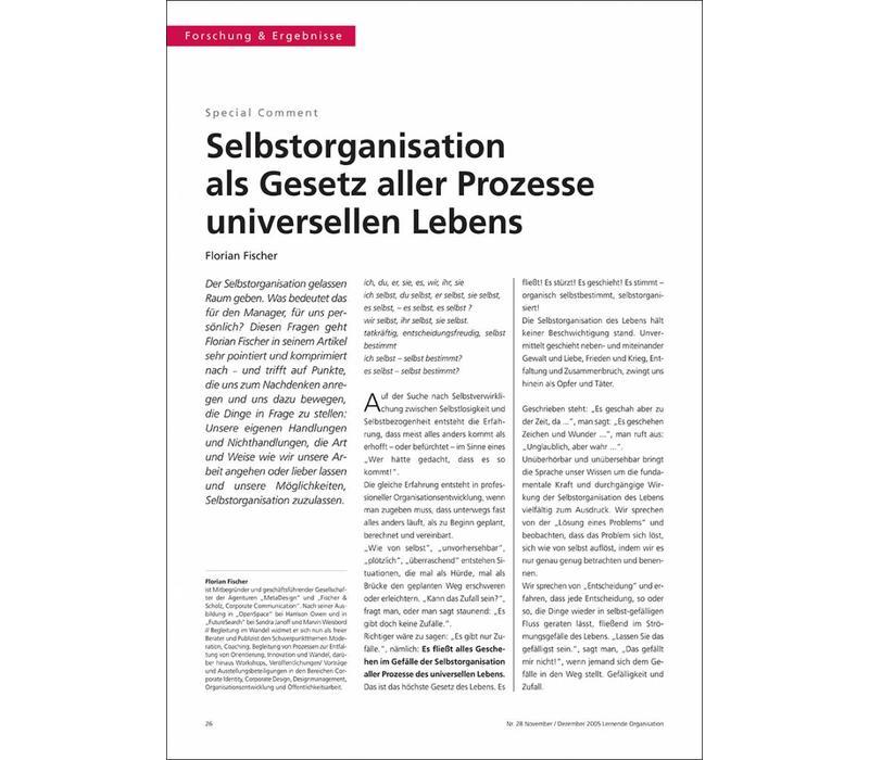 Selbstorganisation als Gesetz aller Prozesse universellen Lebens