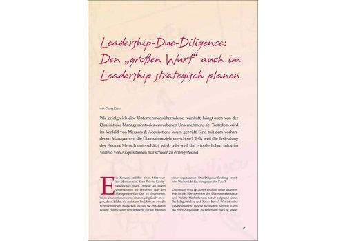 """Leadership-Due-Diligence: Den """"großen Wurf"""" auch im Leadership strategisch planen"""