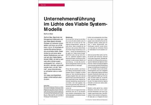 Unternehmensführung im Lichte des Viable System- Modells