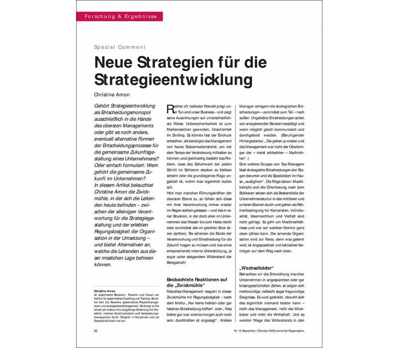 Neue Strategien für die Strategieentwicklung