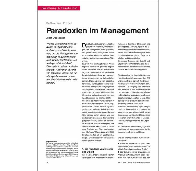 Paradoxien im Management