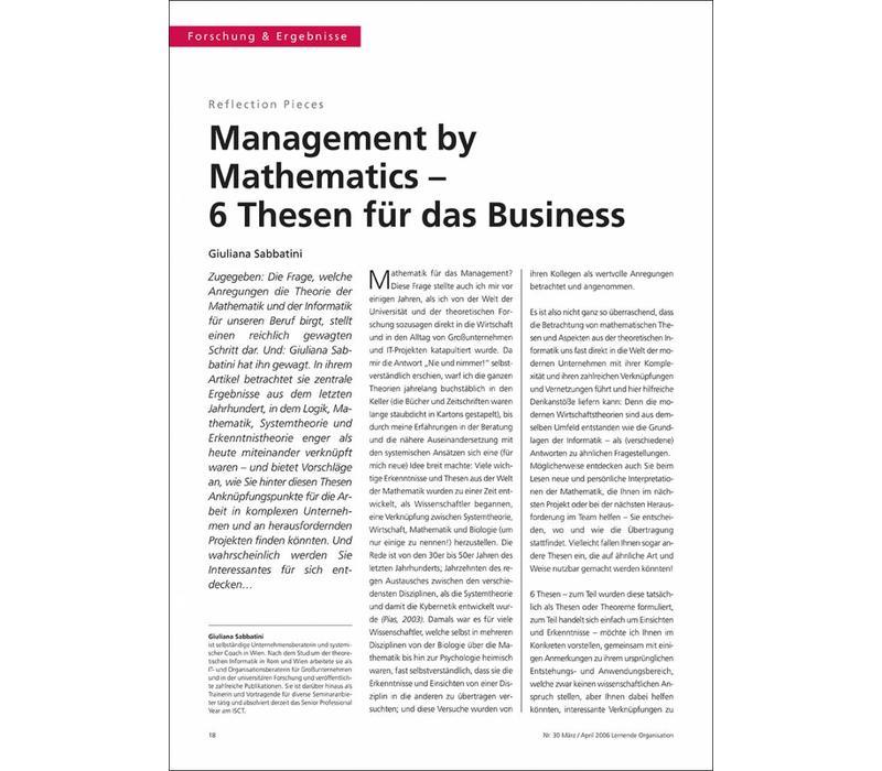 Management by Mathematics – 6 Thesen für das Business