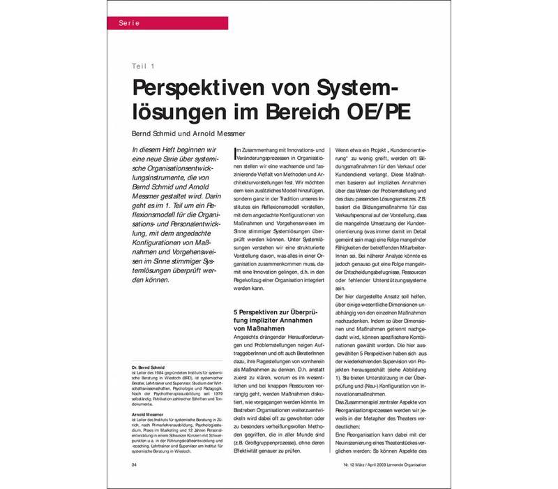 Perspektiven von Systemlösungen im Bereich OE/PE