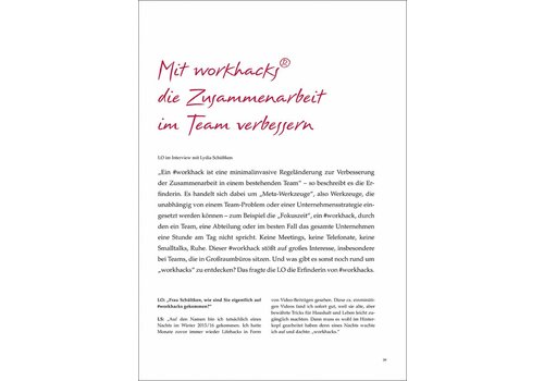 Mit workhacks® die Zusammenarbeit im Team verbessern