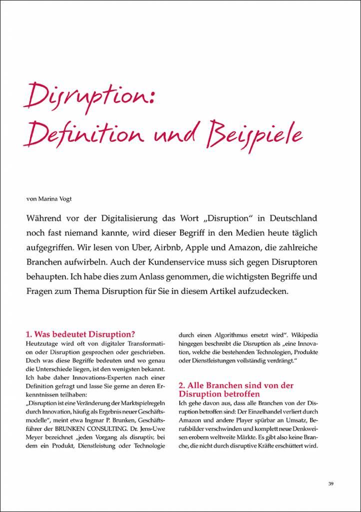 Disruption: Definition und Beispiele - IRBW