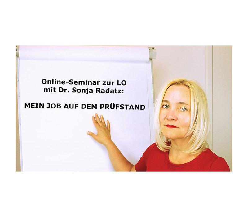 Online-Seminar mit Dr. Sonja Radatz: MEIN JOB AUF DEM PRÜFSTAND