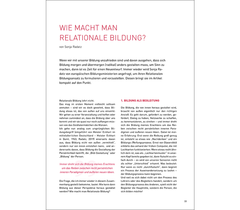 Wie macht Man Relationale Bildung?