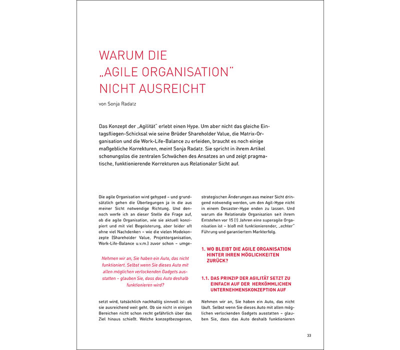 """Warum die """"agile Organisation"""" nicht ausreicht"""