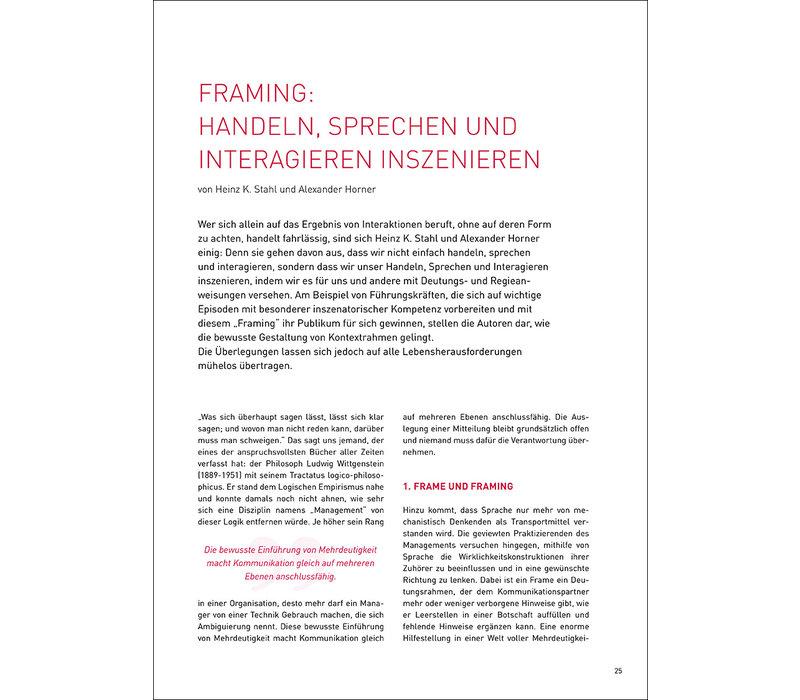 Framing: Handeln, Sprechen und Interagieren inszenieren