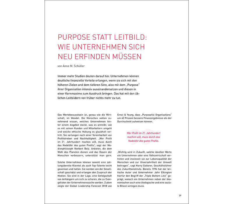 Purpose statt Leitbild: Wie Unternehmen sich neu erfinden müssen