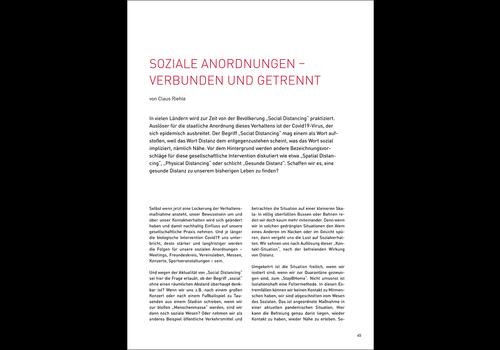 Soziale Anordnungen - verbunden und getrennt