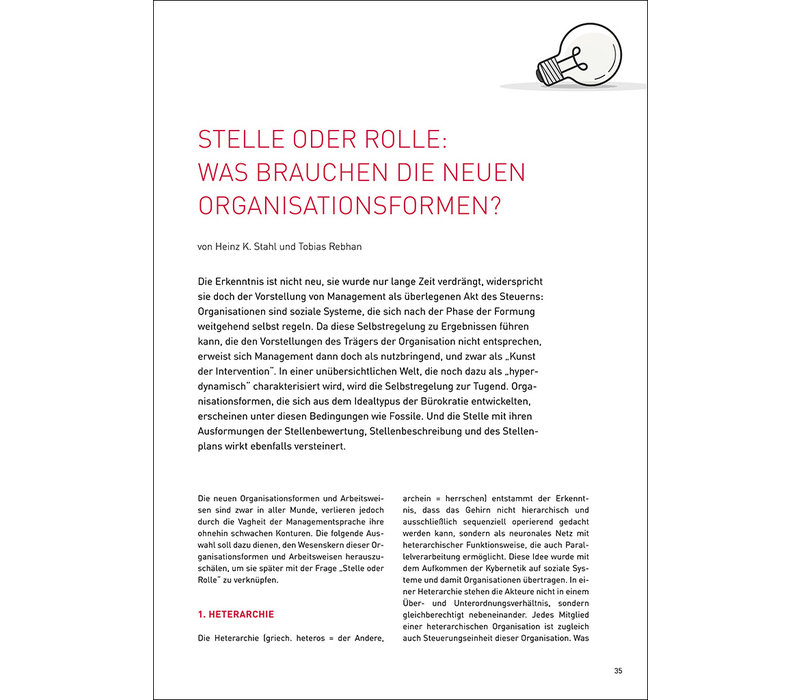 Stelle oder Rolle: was brauchen die neuen Organisationsformen?