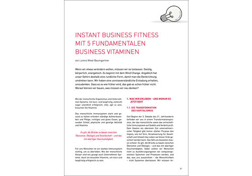 Instant Business Fitness mit 5 fundamentalen Business Vitaminen