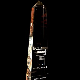 Award crystal ECCA