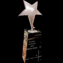 Award en cristal étoile