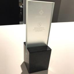 Award glas Janssen Pharmaceutica