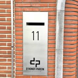 Nameplate inox with mailbox