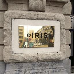Naamplaat messing IRIS