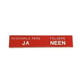 Engraved plastic nameplate