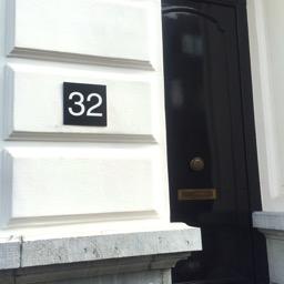 Numéros de maisons noirs